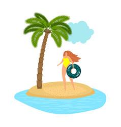 female beach vacation vector image