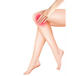 Female legs and pain realistic vector