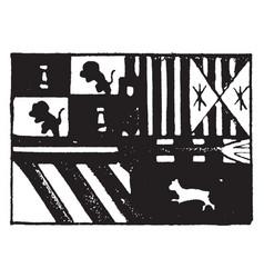 flag of spain 1913 vintage vector image