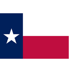 Flag of texas state official colors vector