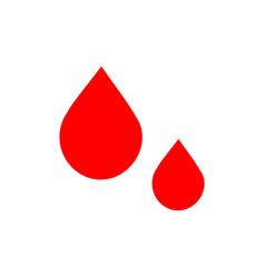flat drop icon vector image