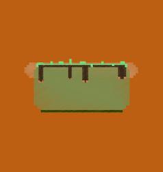Flat shading style icon pixel hot dog vector
