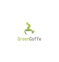 green coffe logo vector image