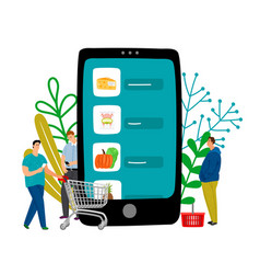 Grocery online shopping vector