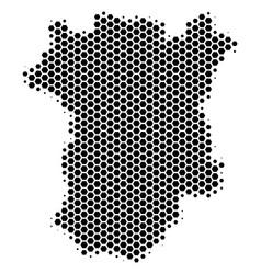 Hexagon halftone chechnya map vector