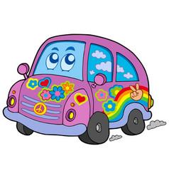 Hippie car vector