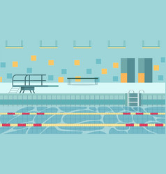 Indoor swimming pool based within school grounds vector