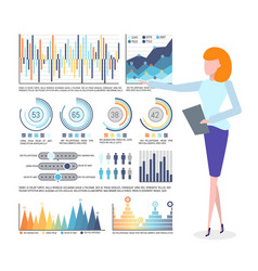 infographics and statistics business graphics vector image