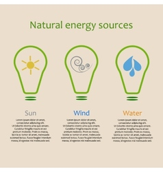 Infographics of natural energy sources vector image
