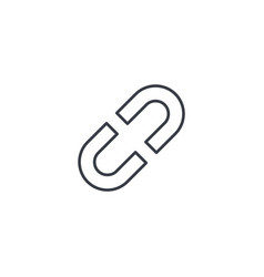 Internet link broken chain thin line icon linear vector