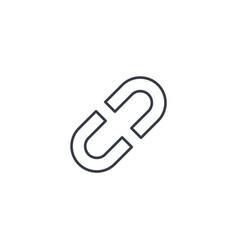 Internet link broken chain thin line icon linear vector