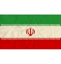 Iran paper flag vector image