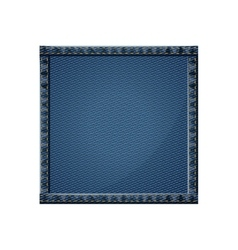 Isolated denim frame design vector image