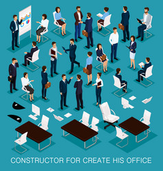 isometric business people for conception vector image