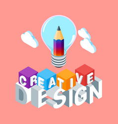 isometric creative design concept vector image