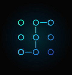 Machine learning or neural network blue vector