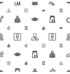 Male icons pattern seamless white background vector