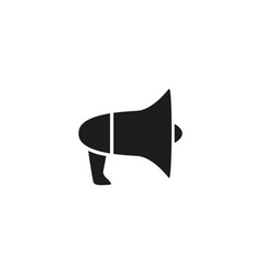 megaphone of black icon vector image
