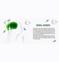 mental health poster in paper style business vector image
