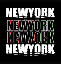 Newyork district nyc print design typhography vector