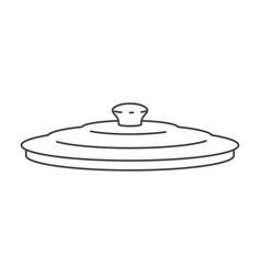 Pan lid flat monochrome silhouette vector