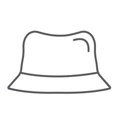 panama hat thin line icon clothes and accessory vector image
