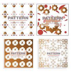 patterns boho backgrounds square and round design vector image