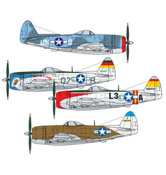 Republic p-47 thunderbolt vector