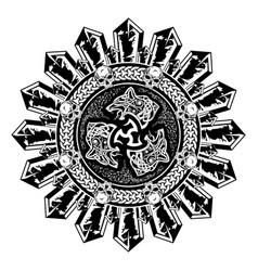 Scandinavian tattoo 0019 vector
