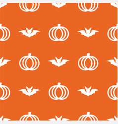 seamless cute pumpkin in halloween day on vector image