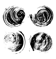 Set of four round grunge stains vector