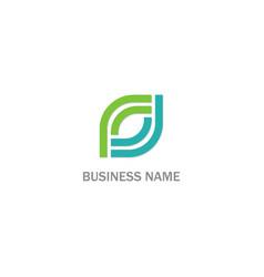 shape circle line business logo vector image