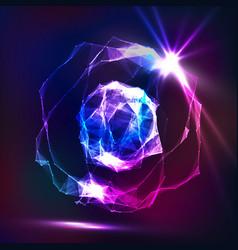 splash particles connection structure digital vector image