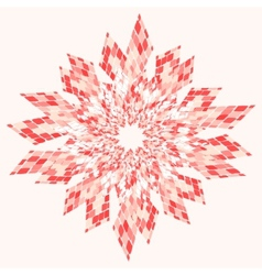 Star Abstract Pink vector image