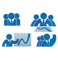 success office workers and business team vector image