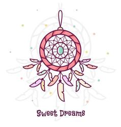 Sweet dreams dreamcatcher vector