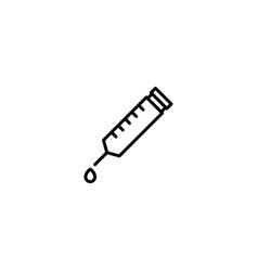 syringe needle icon vector image