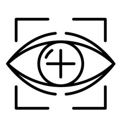 target eyeball icon outline style vector image