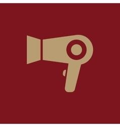 The dryer icon hairdryer symbol flat vector