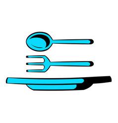 Utensils icon cartoon vector