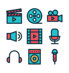 Video and audio color vector