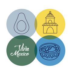 Viva mexico design vector