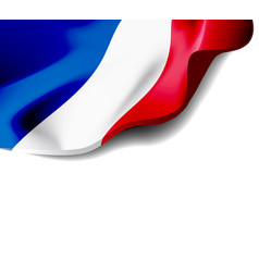 waving flag of france close-up with shadow vector image