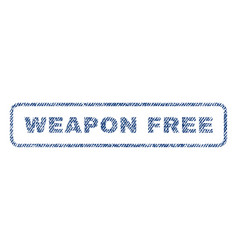 Weapon free textile stamp vector