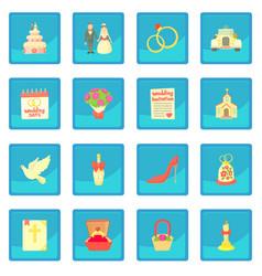 wedding icon blue app vector image
