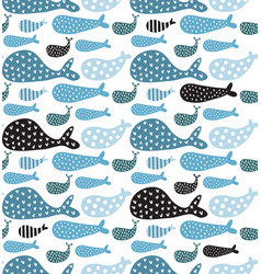 Whales pattern vector