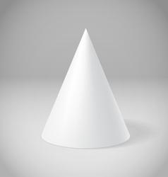White cone vector
