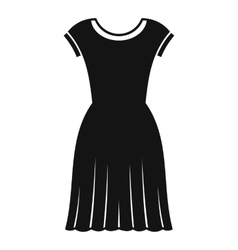 Woman dress icon simple style vector