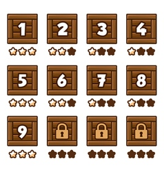Wooden level selection 2 vector image