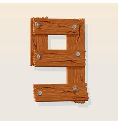 wooden type 9 vector image vector image